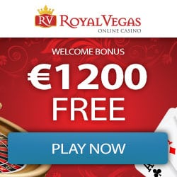 Royal Vegas Casino €1,200 gratis (300% bonus) and 100 free spins