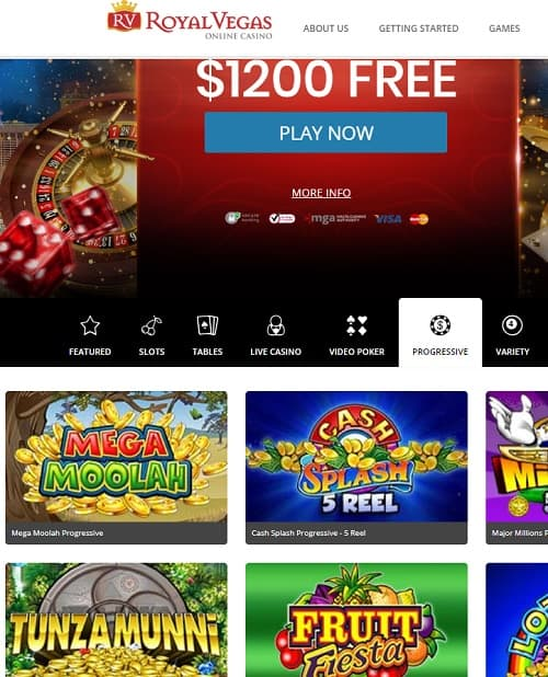 Royal Vegas Casino free spins bonus