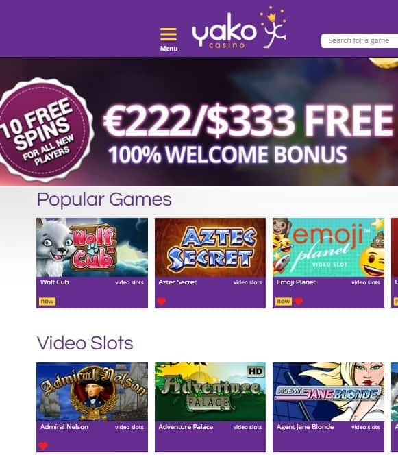 YakoCasino.com Review