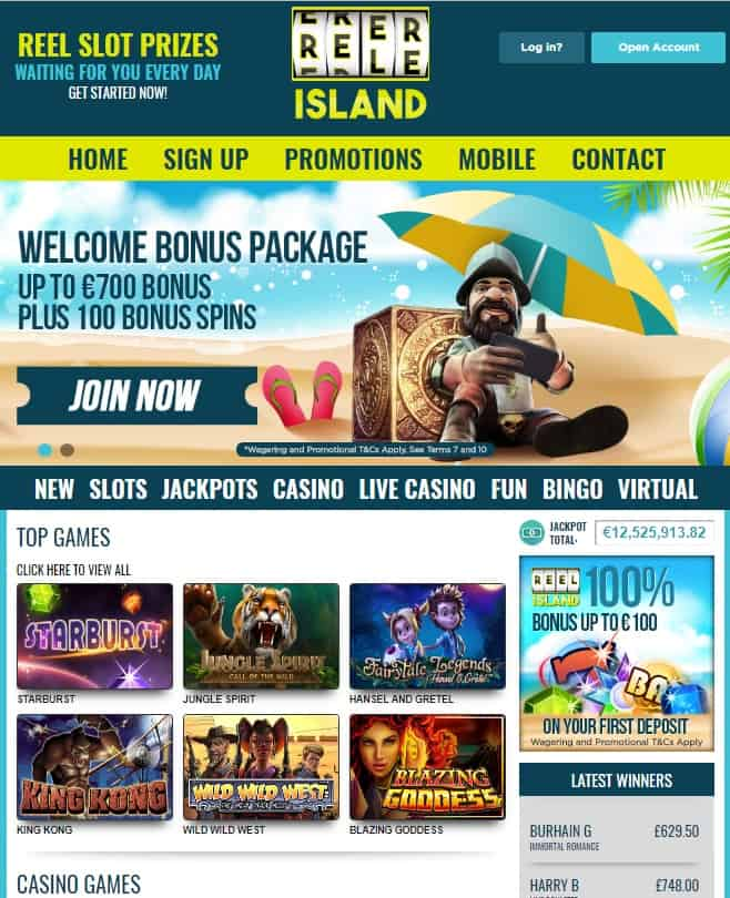 Reel Island Casino - free spins bonus promotion