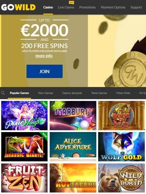 GoWild Casino Reviews