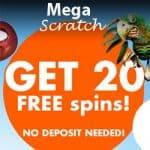 Mega Scratch | 175 free spins and 200% up to €400 casino bonus