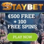 Staybet Casino Review | 100 Netent free spins and €500 bonus chips