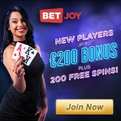 Betjoy Casino | 25 gratis spins plus €200 bonus and 200 free spins