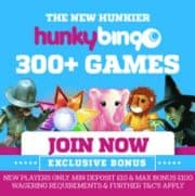 Hunky Bingo free spins