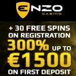 Enzo Casino – 30 Free Spins on Netent Slots – No Deposit Bonus