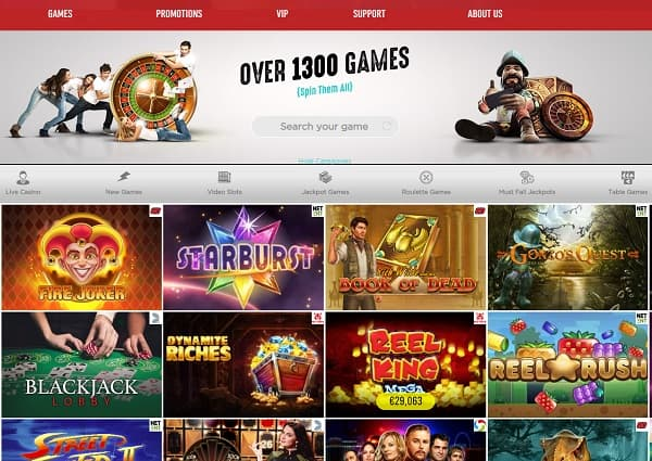 Spinit Casino - you play it, you win it!