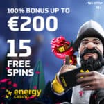 EnergyCasino €5 free spins and €400 bonus – no deposit required!
