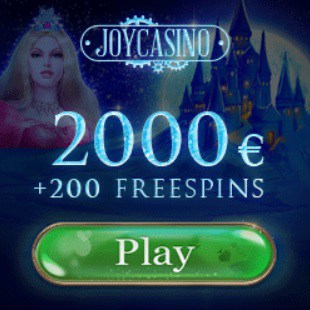 Joy Casino - 2000€ free cash and 200 free spins - no deposit bonus