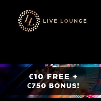 Live Lounge Casino €10 no deposit plus 175% up to €750 free bonus