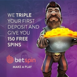 Betspin Casino | 150 free spins   €400 free bonus | online & mobile