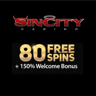 SinCity Casino 80 free spins and 100% up to $2000 reload bonuses