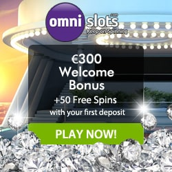 OmniSlots Casino 50 free spins and 100% up to €300 free bonus