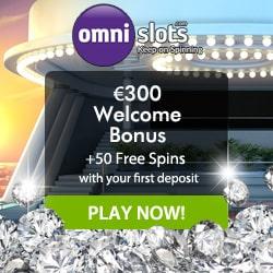 OmniSlots Casino 50 free spins and 100% up to €300 free bonus