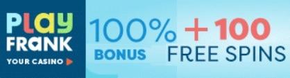 Play Frank Casino 100 free spins and €200 free bonus