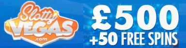 Slotty Vegas Casino 75 free spins and €500 exclusive bonus