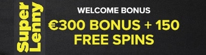 SuperLenny Casino €300 bonus and 150 free spins