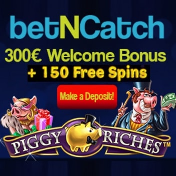 BetNCatch Casino 150 free spins plus €300 free bonus
