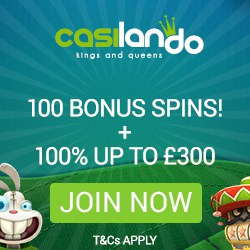 Casilando Casino 100% up to €300 bonus and 100 free spins