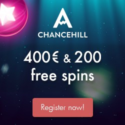 Chance Hill Casino 200 free spins plus 200% up to €200 welcome bonus