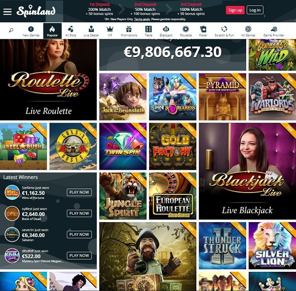 Welcome to SpinLand Casino Online!