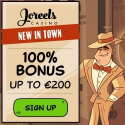 JoReels Casino Review: 50 free spins   100% bonus up to €200
