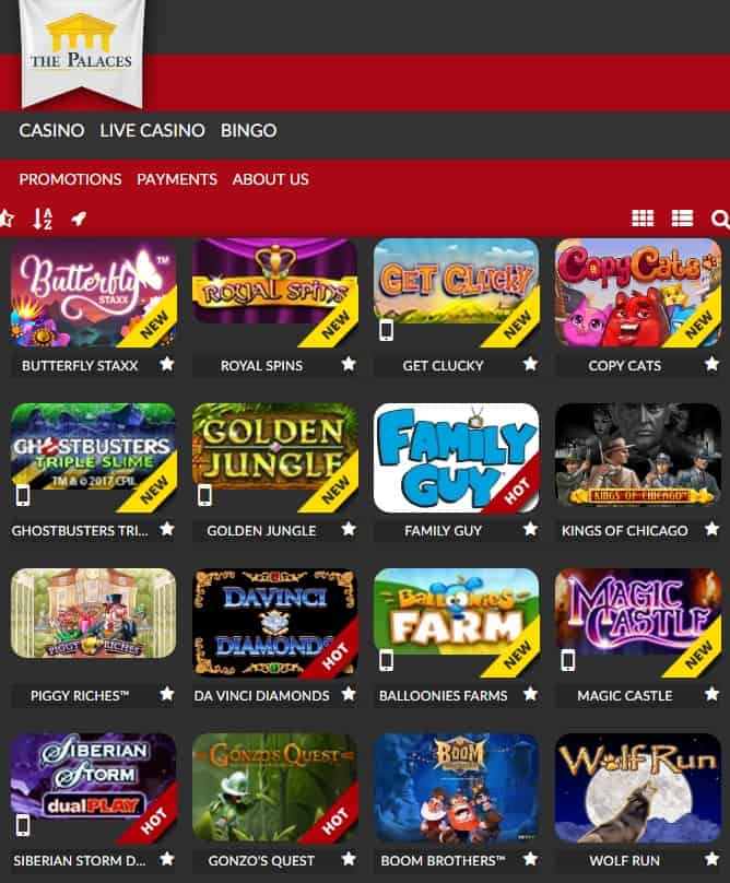 The Palaces Casino free spins bonus