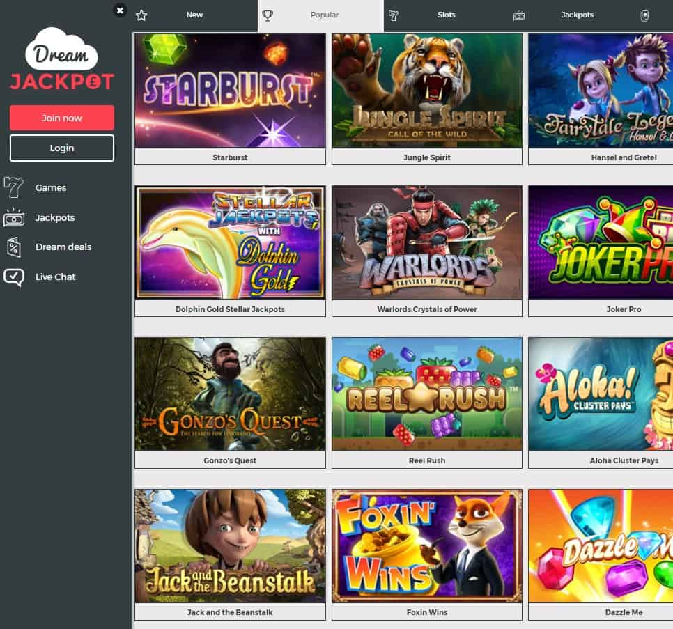 Dream Jackpot Casino Review