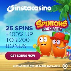 Insta Casino 25 free spins no deposit bonus - no wagering requirements