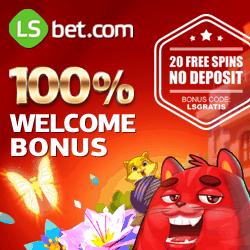 LSbet Casino & Sports   20 exclusive free spins + $300 welcome bonus