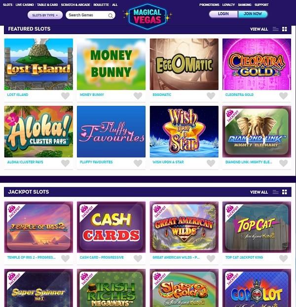 MagicalVegas.com Full Review Screen