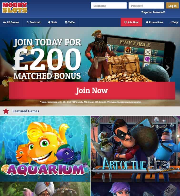 Mobby Slots Casino Review