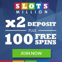 Slots Million Casino | 100 Free Spins   €100 Gratis   No Deposit Bonus