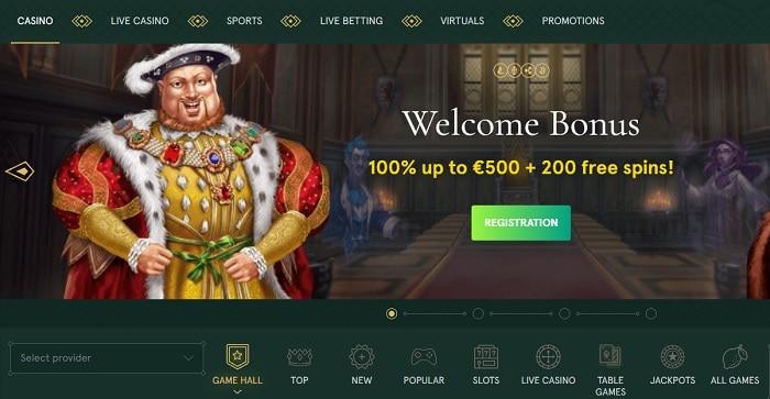 Casinia free spins bonus