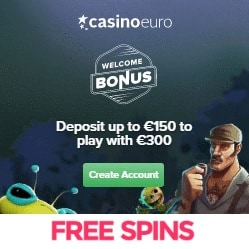 CasinoEuro | €300 free bonus and 100 free spins | 1000+ games
