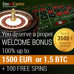 Das Ist Casino 250 free spins plus 300% up to €3,500 or 3,5 BTC welcome bonus