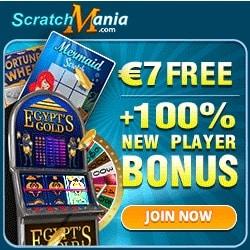 7€ no deposit + 100% up to €200 free bonus