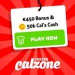 Casino Calzone – 200% up to €450 free bonus and free spins rewards