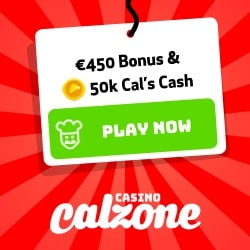Casino Calzone - 90 free spins and 200% up to €450 free bonus