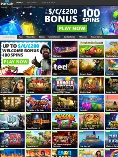 PlayClub.com Casino Review