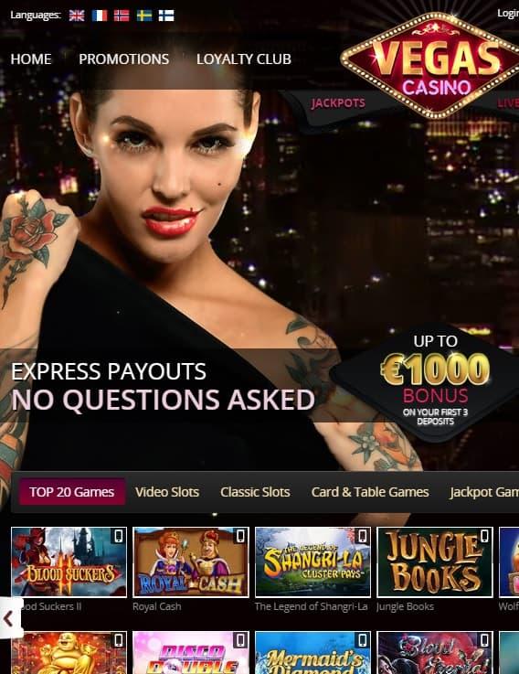 VegasCasino.com 100% bonus & free spins - review