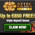 Aztec Riches Casino | 50 free spins   €/$850 free bonus credits
