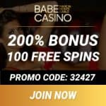 Babe Casino | 350% up to €/$3,200 bonus   100 exclusive free spins