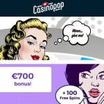 Casino Pop [review] 100 Free Spins and 350% up to €700 Free Bonus