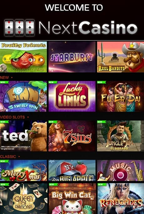 Next Casino Welcome Bonus