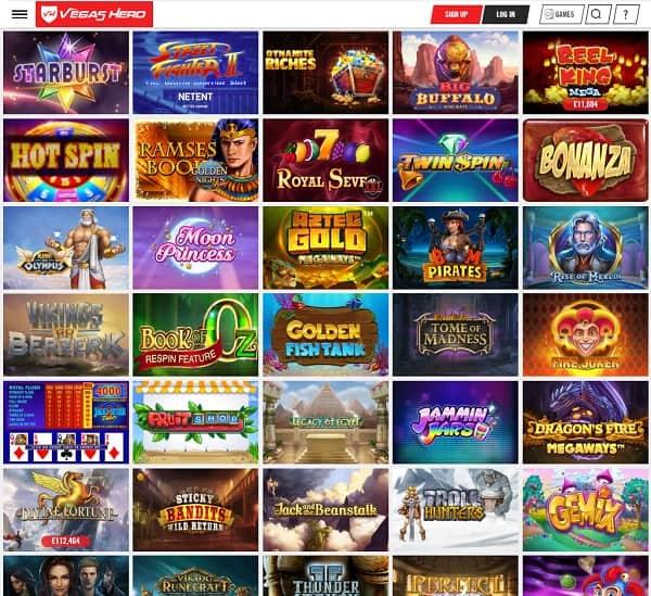 Vegas Hero Casino Full Review & Rating