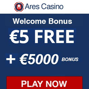 Ares Casino €5 free spins   1100% up to €5000 bonus | Australia OK.