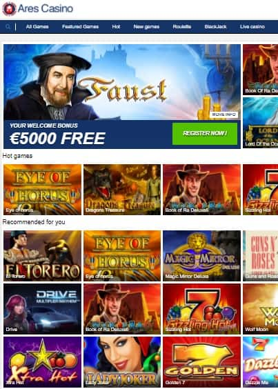 Ares Casino Online & Mobile Review