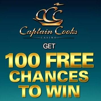 Captain Cooks Casino 100 free spins on Mega Moolah - exclusive bonus