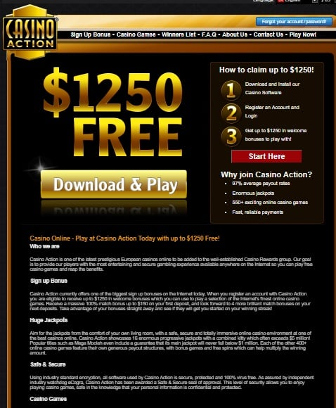 Casino Action Online Games Review